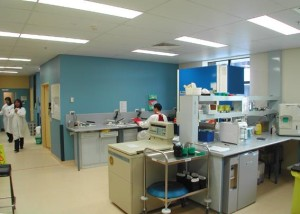 POW Hospital Blood Bank work area
