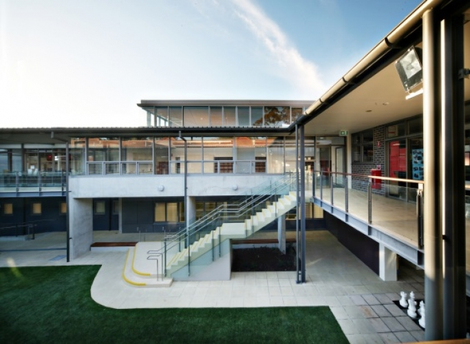 Roseville College classrooms, walkways and playground