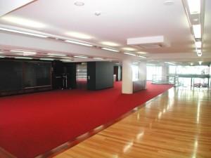Sydney Grammar Theatre foyer - new flooring and lighting