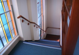 St Mary's Church Erksineville Stairs to new mezzanine level